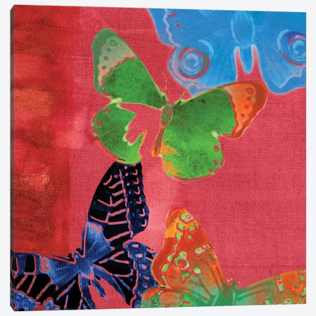 Saturated Butterflies I 3-Piece Canvas #SIS52} by Sisa Jasper Canvas Print
