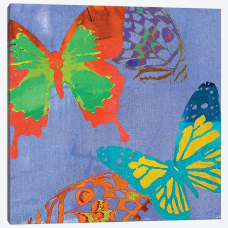 Saturated Butterflies IV Canvas Print #SIS55} by Sisa Jasper Canvas Art