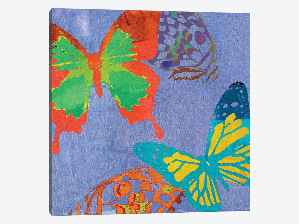 Saturated Butterflies IV 1-piece Canvas Wall Art