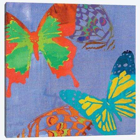 Saturated Butterflies IV 3-Piece Canvas #SIS55} by Sisa Jasper Canvas Art