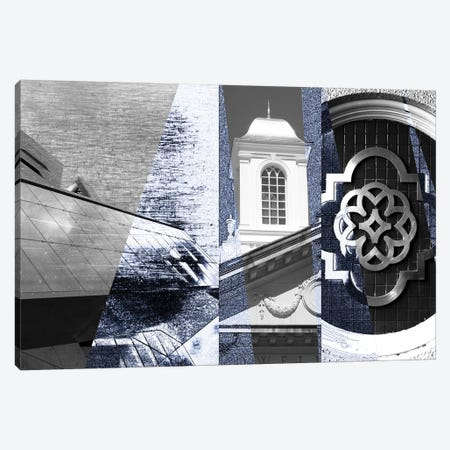 Architecture Collage I Canvas Print #SIS60} by Sisa Jasper Canvas Artwork