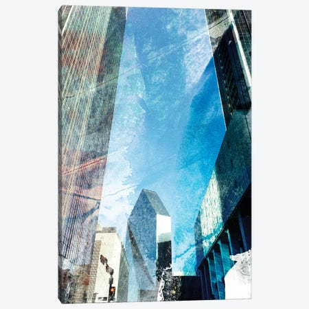 Dallas Architecture II 3-Piece Canvas #SIS70} by Sisa Jasper Canvas Art Print