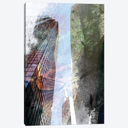 Dallas Architecture III 3-Piece Canvas #SIS71} by Sisa Jasper Art Print