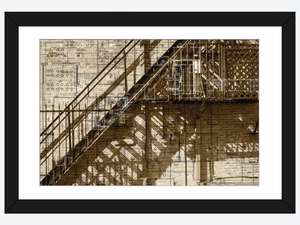 Architecture drawing i framed art print by sisa jasper for Print architectural drawings