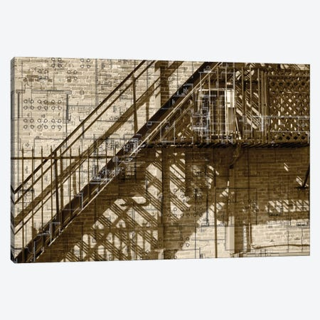 Architecture Drawing I Canvas Print #SIS7} by Sisa Jasper Canvas Art