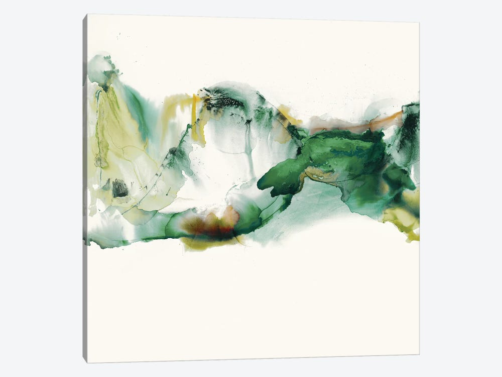 Green Terrain II by Sisa Jasper 1-piece Canvas Artwork