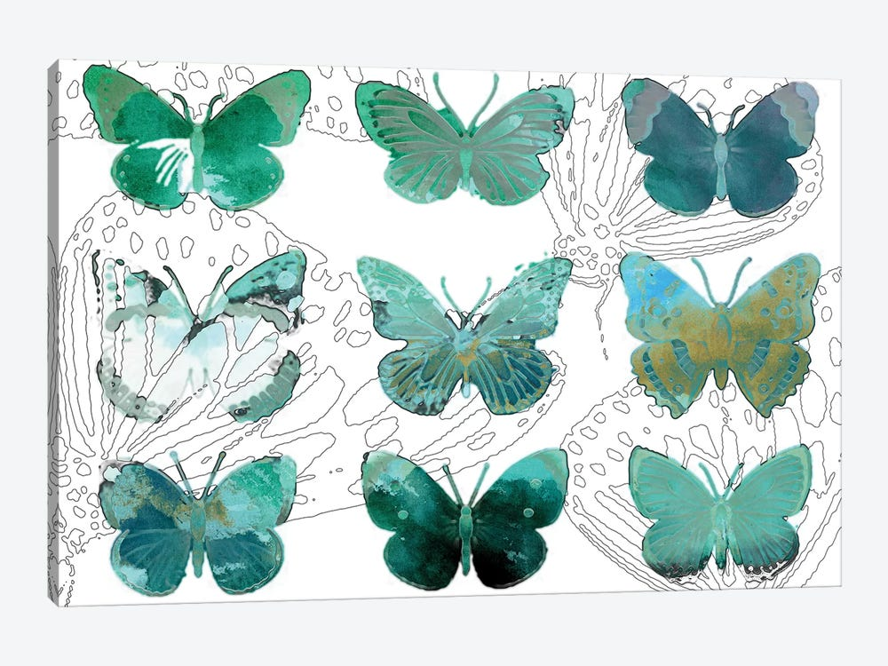 Layered Butterflies I by Sisa Jasper 1-piece Art Print