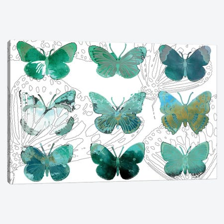 Layered Butterflies I Canvas Print #SIS94} by Sisa Jasper Canvas Artwork