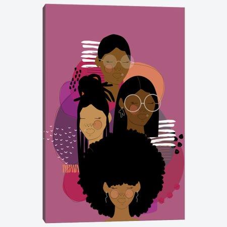 Purple Rain Canvas Print #SIT20} by sheisthisdesigns Art Print