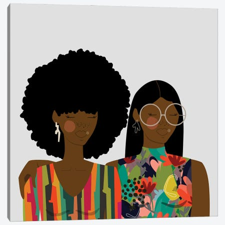 Sisters Canvas Print #SIT21} by sheisthisdesigns Art Print