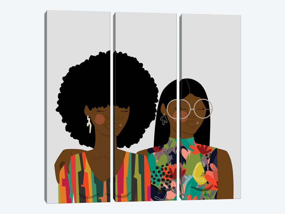Sisters by sheisthisdesigns 3-piece Canvas Artwork