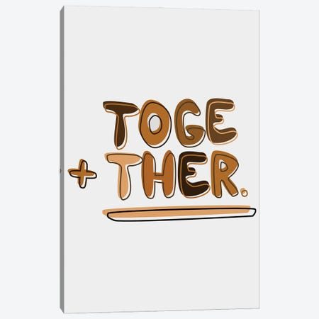Together Canvas Print #SIT30} by sheisthisdesigns Canvas Wall Art