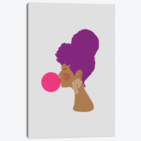 Purple Lady Canvas Print #SIT32} by sheisthisdesigns Canvas Wall Art
