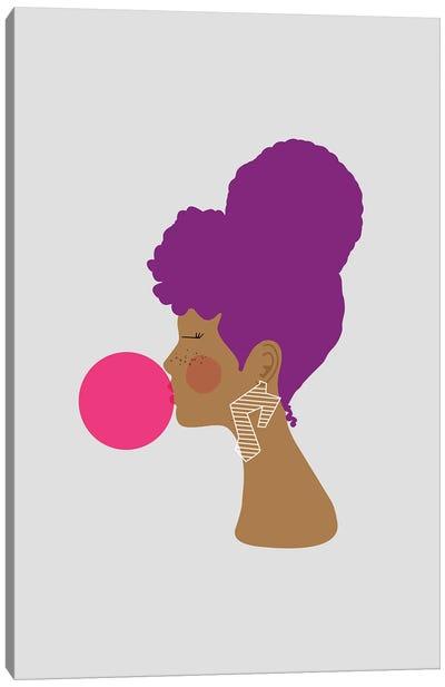 Purple Lady Canvas Art Print