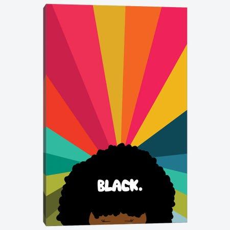Black Canvas Print #SIT6} by sheisthisdesigns Art Print
