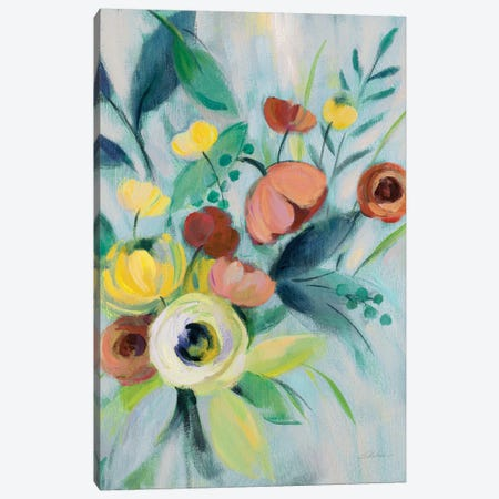 Colorful Elegant Floral I Canvas Print #SIV101} by Silvia Vassileva Canvas Print
