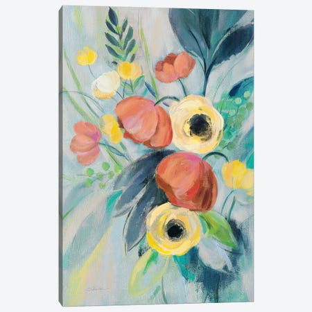 Colorful Elegant Floral II Canvas Print #SIV102} by Silvia Vassileva Art Print