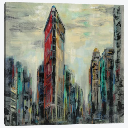 Manhattan Flatiron Building Canvas Print #SIV110} by Silvia Vassileva Canvas Wall Art