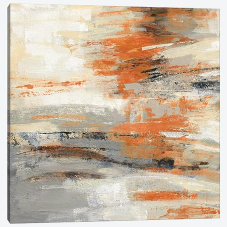 Golden Dust Crop Orange Canvas Print #SIV123} by Silvia Vassileva Art Print