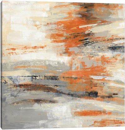 Golden Dust Crop Orange Canvas Art Print