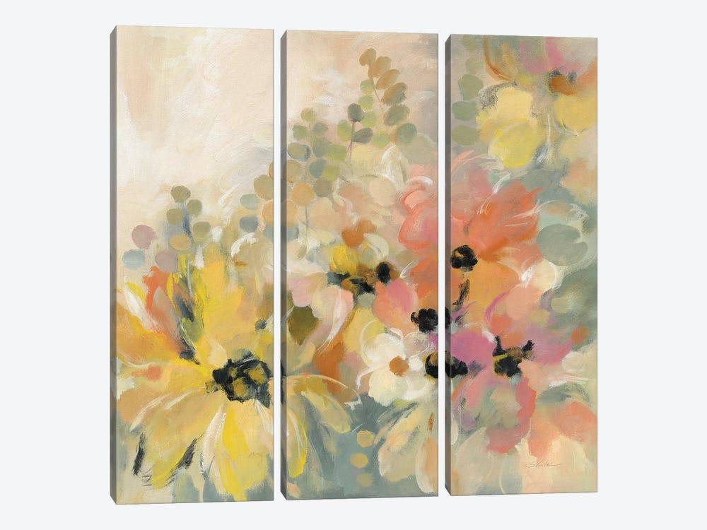 June Flower Bed by Silvia Vassileva 3-piece Canvas Wall Art