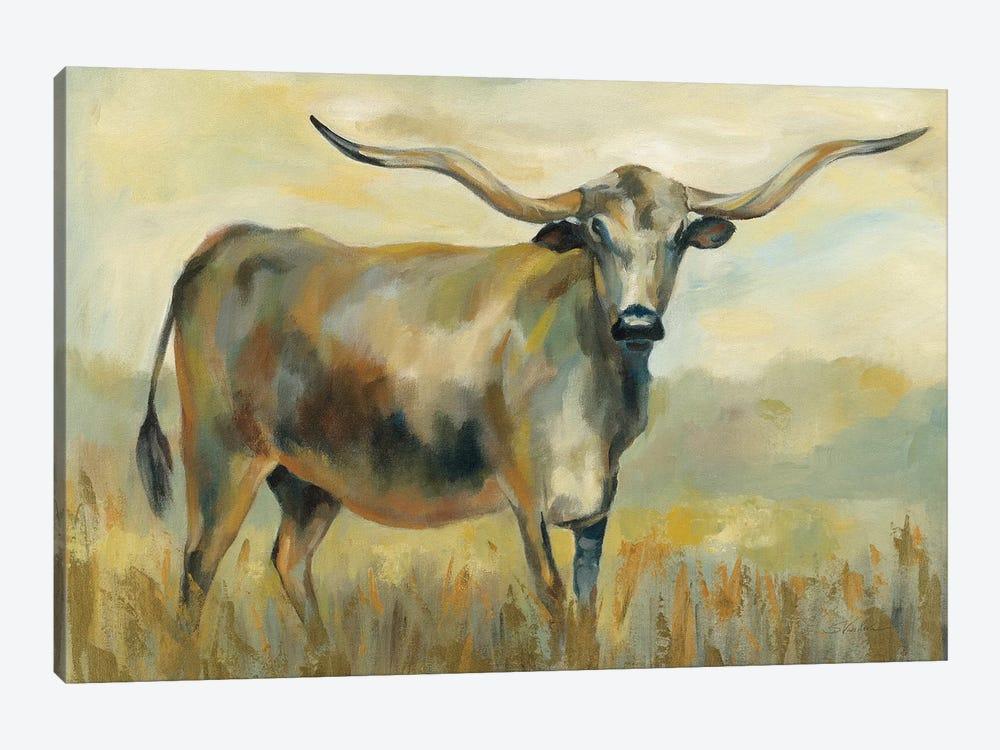 Longhorn Cow by Silvia Vassileva 1-piece Canvas Wall Art