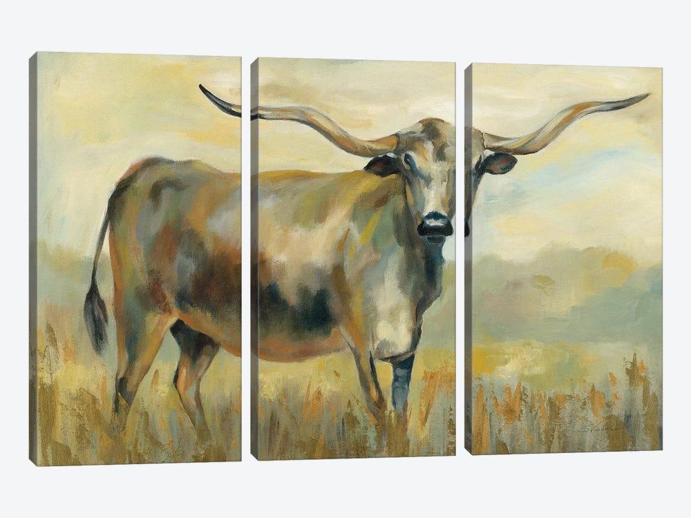 Longhorn Cow by Silvia Vassileva 3-piece Canvas Art