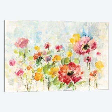 Summer Rain Floral Canvas Print #SIV132} by Silvia Vassileva Canvas Artwork