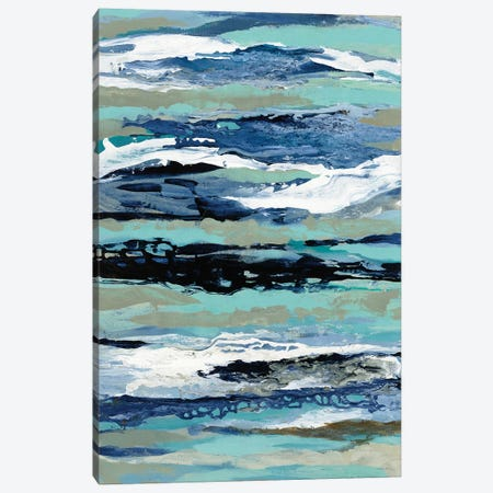 Coastal Sea Foam I Canvas Print #SIV147} by Silvia Vassileva Canvas Art