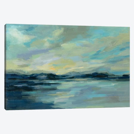 Indigo Sea Canvas Print #SIV150} by Silvia Vassileva Canvas Art