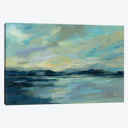 Indigo Sea Canvas Print #SIV150} by Silvia Vassileva Canvas Art