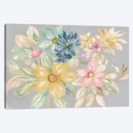 June Bloom Gray Canvas Print #SIV151} by Silvia Vassileva Canvas Wall Art