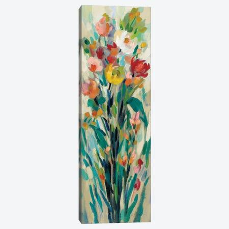 Tall Bright Flowers Cream I Canvas Print #SIV153} by Silvia Vassileva Canvas Wall Art