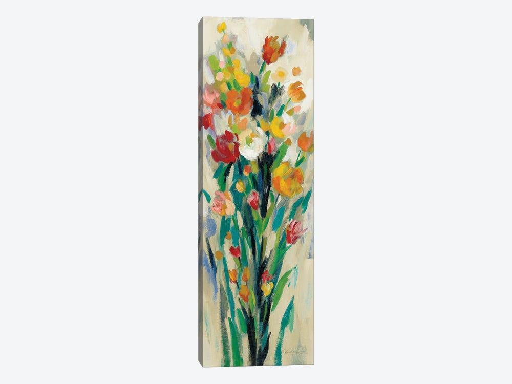 Tall Bright Flowers Cream II by Silvia Vassileva 1-piece Canvas Art
