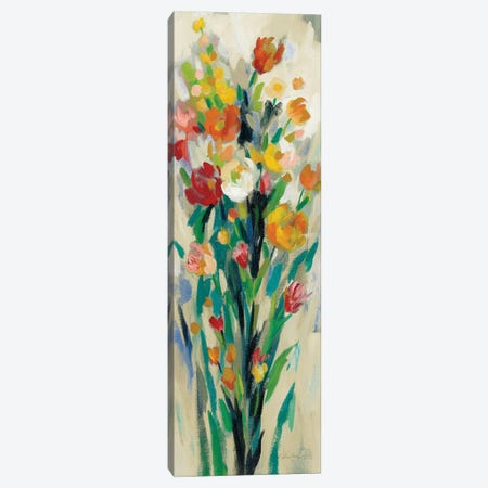 Tall Bright Flowers Cream II 3-Piece Canvas #SIV154} by Silvia Vassileva Canvas Print