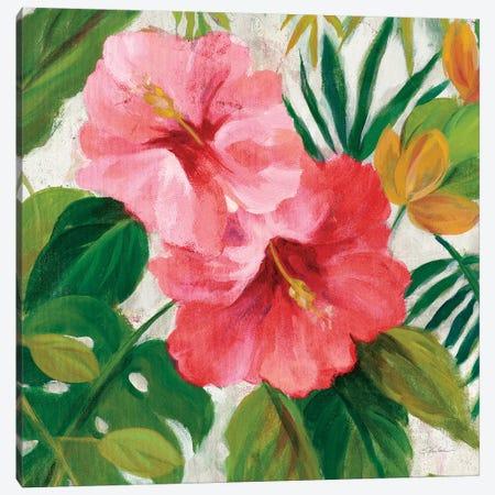 Tropical Jewels I v2 Pink Crop Canvas Print #SIV155} by Silvia Vassileva Art Print