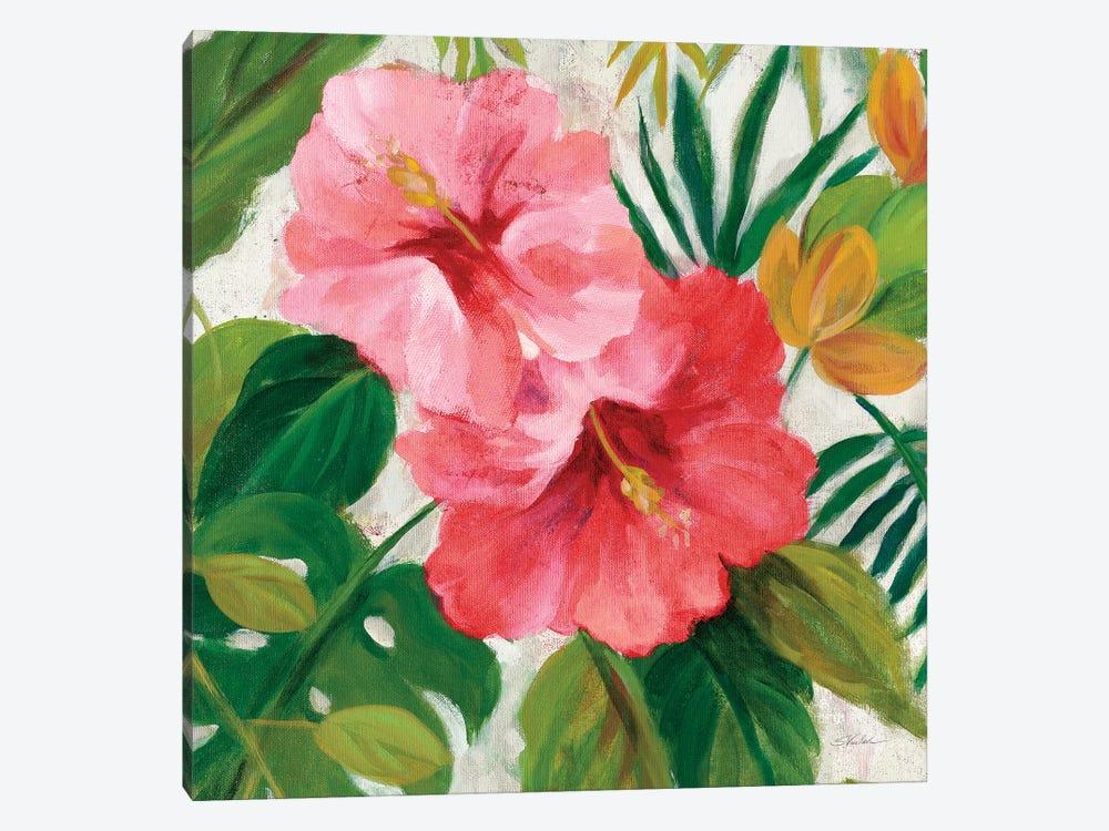 Tropical Jewels I v2 Pink Crop by Silvia Vassileva 1-piece Canvas Print