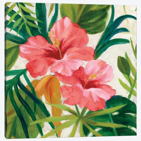 Tropical Jewels II v2 Pink Crop Canvas Print #SIV156} by Silvia Vassileva Art Print