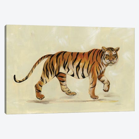 Walking Tiger Canvas Print #SIV157} by Silvia Vassileva Art Print
