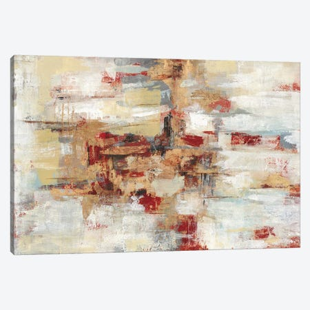 Old Bridge Reminiscence Red Canvas Print #SIV165} by Silvia Vassileva Canvas Artwork