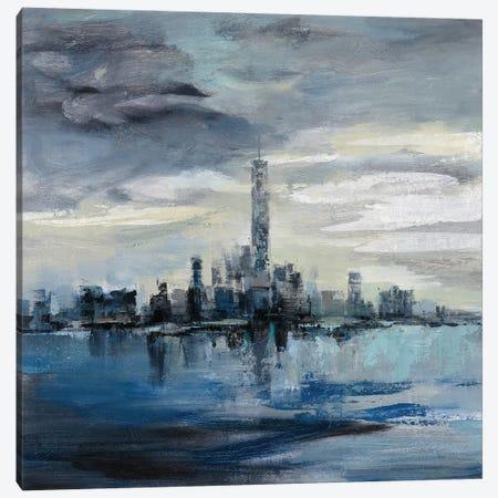 Manhattan Winter Canvas Print #SIV182} by Silvia Vassileva Canvas Art Print