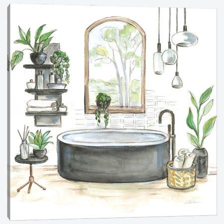 Black Bathtub I Canvas Print #SIV194} by Silvia Vassileva Canvas Art Print
