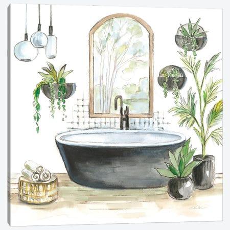 Black Bathtub II Canvas Print #SIV195} by Silvia Vassileva Art Print