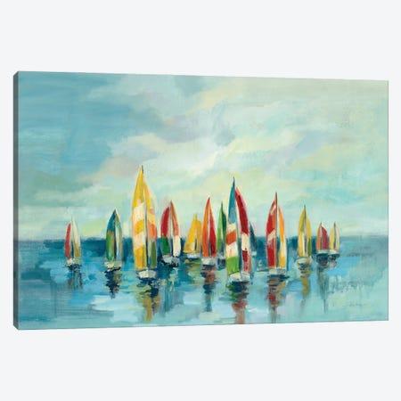 Regatta Canvas Print #SIV201} by Silvia Vassileva Canvas Art