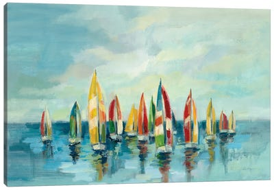 Regatta Canvas Art Print