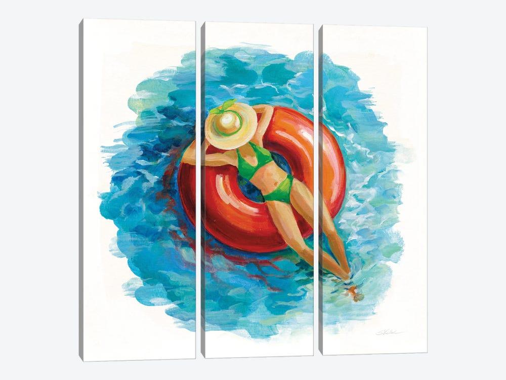 Sunbather I by Silvia Vassileva 3-piece Canvas Art Print