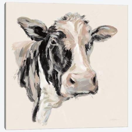 Expressionistic Cow I Neutral Canvas Print #SIV210} by Silvia Vassileva Art Print