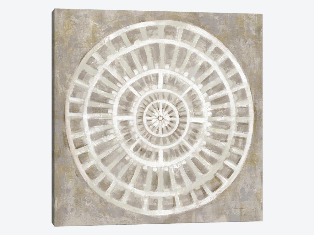 Neutral Textured Medallion Light by Silvia Vassileva 1-piece Canvas Artwork