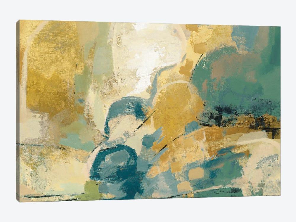 Mid Mod Mood Blue Crop by Silvia Vassileva 1-piece Art Print