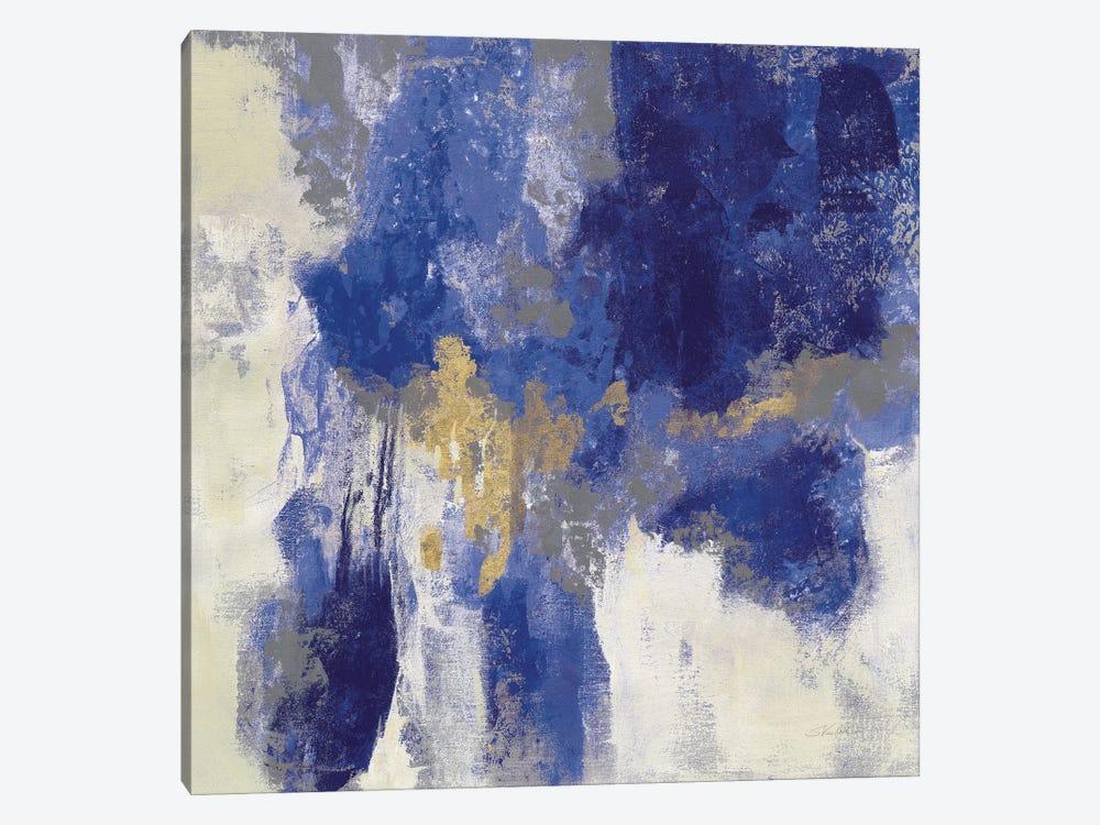 Sparkle Abstract II Blue by Silvia Vassileva 1-piece Canvas Wall Art
